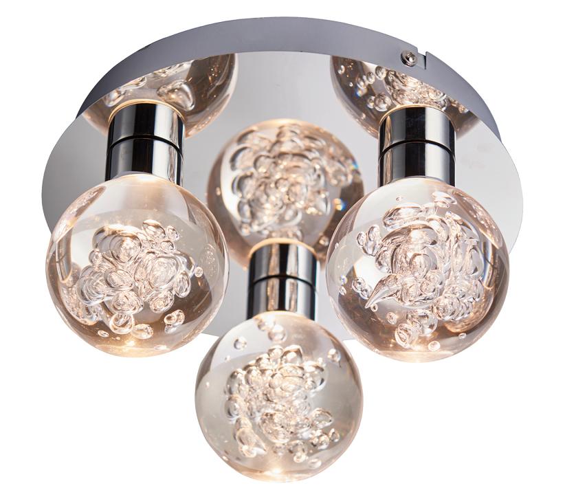 release date d06a6 b4392 Endon Versa 3 Light Flush Bathroom Ceiling Light, Chrome ...
