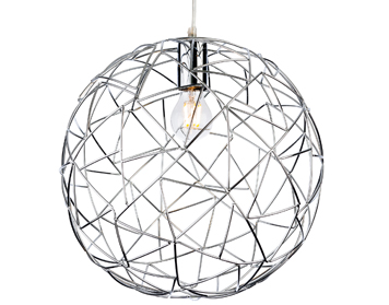 Firstlight Praga 1 Light Ceiling Pendant Light, Chrome - 7638CH