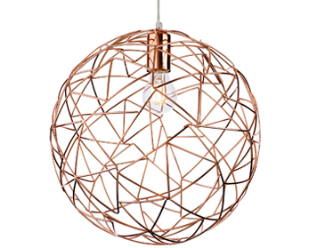 Firstlight Praga 1 Light Ceiling Pendant Light, Copper - 7638CP