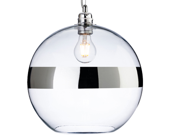 Firstlight Saturn 1 Light Ceiling Pendant Light, Chrome With Clear Glass - 7639CH