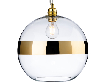 Firstlight Saturn 1 Light Ceiling Pendant Light, Gold With Clear Glass - 7639GO
