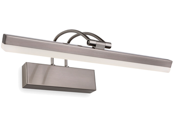 Firstlight 8w LED Picture Light, Brushed Steel Finish - 7644BS