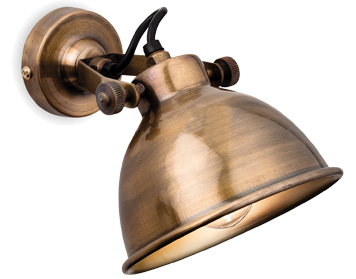 Firstlight Mantis 1 Light Wall Light, Antique Brass Finish - 7646AB