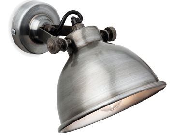 Firstlight Mantis 1 Light Wall Light, Antique Silver Finish - 7646AS