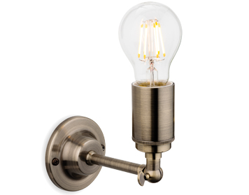 Firstlight Indy 1 Light Wall Light, Antique Brass Finish - 7650AB
