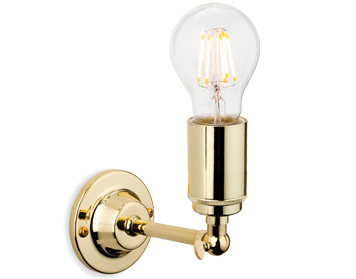 Firstlight Indy 1 Light Wall Light, Polished Brass Finish - 7650BR