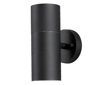 Konstsmide Modena 2 Light Outdoor Up & Down Wall Light, Matt Black - 7656-750
