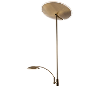 Firstlight Horizon LED Mother & Child Dimmable Floor Lamp, Antique Brass - 7659AB