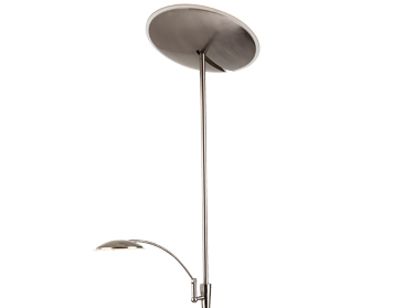 Firstlight Horizon LED Mother & Child Dimmable Floor Lamp, Brushed Steel - 7659BS