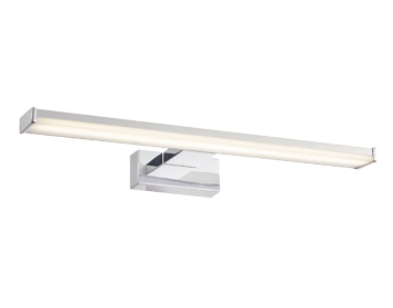 Endon Axis 1 Light Bathroom Wall Light, Frosted Polypropylene & Chrome Effect ABS Plastic Finish - 76658