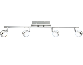 Wofi Fulton 4 Light LED Ceiling Spotlight, Chrome Finish - 7740.04.01.1000