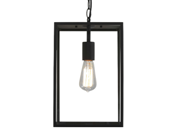 Astro Homefield Pendant 360 Exterior Ceiling Pendant, Textured Black Finish With Clear Glass - 7814