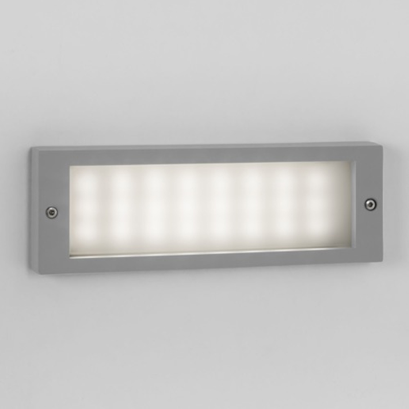 Outdoor recessed wall lights from easy lighting astro brick ip54 led outdoor wall light painted silver 7832 aloadofball Image collections
