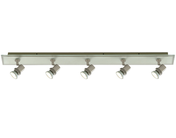 Searchlight Top Hat 5 Light Bar Spotlight, Brushed Nickel Finish - 7845-5