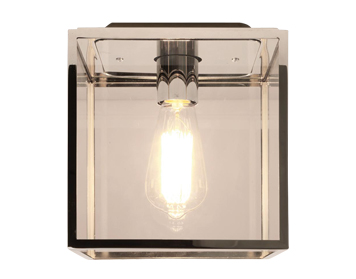 Astro Box Flush Ceiling Light, Polished Finish With Clear Glass - 7389