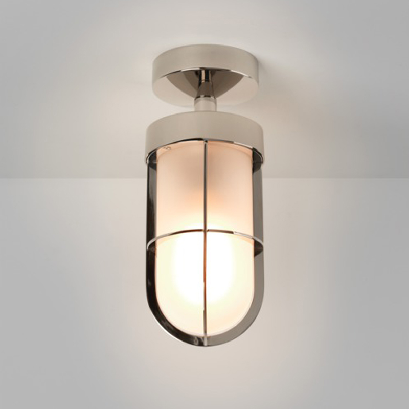 Astro cabin frosted ip44 semi flush outdoor ceiling light antique astro cabin frosted ip44 semi flush outdoor ceiling light polished nickel 7852 aloadofball Image collections