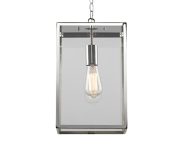 Astro Homefield Pendant 360 Exterior Ceiling Pendant, Polished Nickel Finish With Clear Glass - 7874