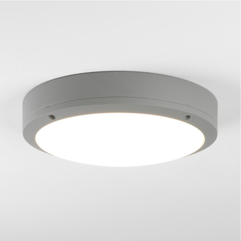 Astro Arta LED Bathroom Flush Ceiling Light/Wall Light, Grey Finish With Polycarbonate Diffuser - 7902