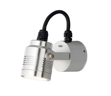 Konstsmide Monza LED Cylindrical Outdoor Wall Light, Aluminium Finish - 7903-310