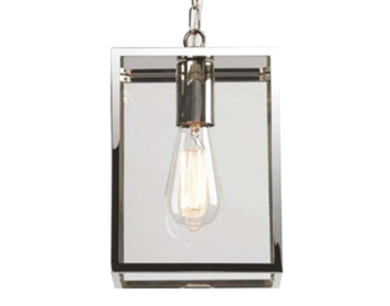 Astro Homefield 240 Exterior Ceiling Pendant, Polished Nickel Finish With Clear Glass - 7908
