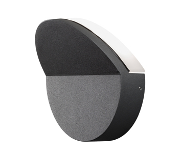 Konstsmide Matera IP54 LED Outdoor Wall Light, Anthracite Grey Finish With Opal Acrylic ...