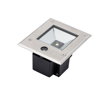Konstsmide High Powered 6w LED Ground Spot Light With Dusk Till Dawn Sensor, Clear Glass Diffuser - 7952-310