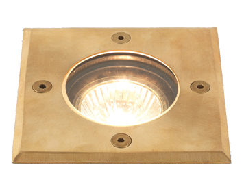 Astro Gramos Coastal Square Exterior Ground Light, Natural Brass Finish - 7952