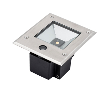 Konstsmide IP65 High Powered 9w LED Ground Spot Light With Dusk Till Dawn Sensor, Clear Glass Diffuser - SALE-7953-310