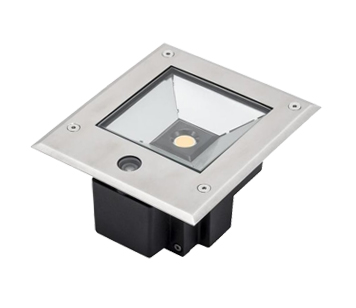 Konstsmide High Powered 12w LED Ground Spot Light With Dusk Till Dawn Sensor, Clear Glass Diffuser - 7954-310