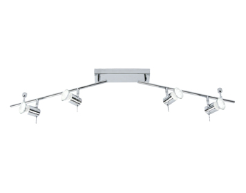 Oaks Lighting Cara 4 Light Spotlight, Polished Chrome Finish - 7954 B CH