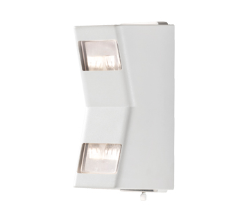 Konstsmide Potenza 2 Light Outdoor Up & Down Wall Light, White Finish - 7956-250