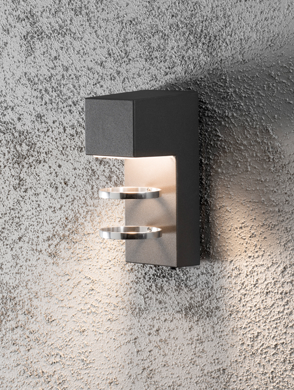 Konstsmide Acerra IP54 LED 1 Light Outdoor Wall Light, Anthracite Grey Finish - 7957-370 from ...