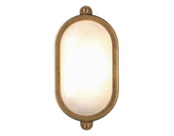 Astro Malibu Coastal Oval Outdoor Wall Light, Antique Brass Finish - 7970