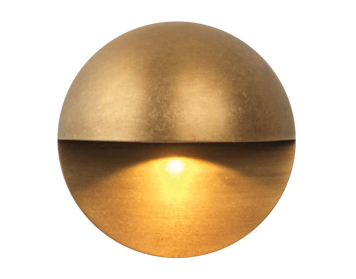Astro Tivoli LED Coastal Outdoor Wall Light, Antique Brass Finish - 7971