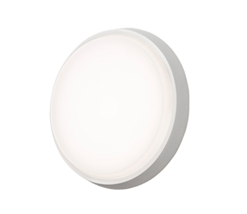 Konstsmide Cesena 1 Light Round Outdoor Ceiling/Wall Light, Aluminium Finish With Opal Polycarbonate Glass - 7974-250
