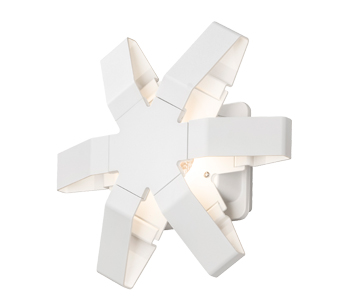 Konstsmide Pescara LED Outdoor Wall Light, White Painted Aluminium Finish - 7977-250