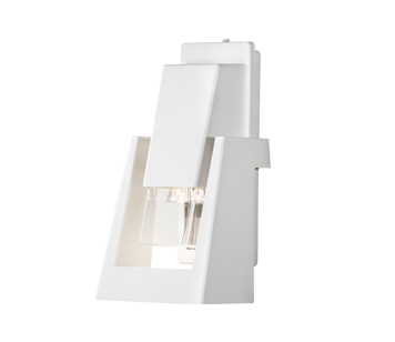 Konstsmide Potenza Outdoor Wall Light, White Finish - 7979-250