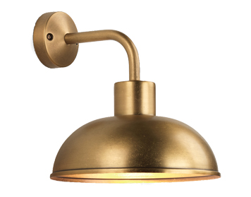 Astro Stornoway Coastal Outdoor Wall Light, Antique Brass Finish - 7980