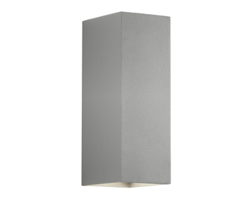 Astro Oslo 225 Up & Down Wall Light, Textured Painted Silver Finish - 7990