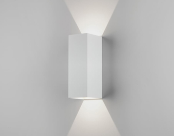 Astro Oslo 255 Up & Down Wall Light, Textured White Finish - 7991