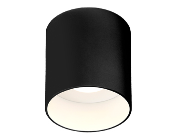 Astro Osca LED Round Ceiling Light, Matt Black Finish - 7997