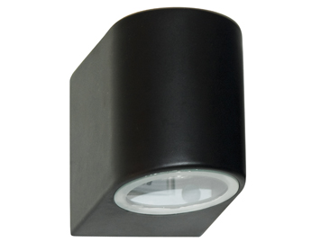 Searchlight 1 Light Outdoor Wall Light, Black Finish - 8008-1BK-LED