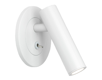 Astro Enna Recess Switched LED Wall Light, Matt White Finish - 8016