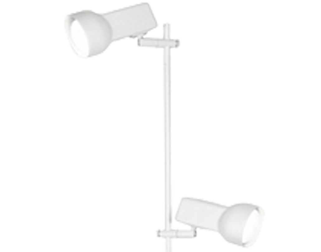 Oaks Lighting Quattro 80 2 Light Floor Lamp, White - 8051WH