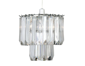 Oaks Lighting Acrylic Non-Electric Ceiling Pendant, Clear Acrylic Finish - 807 NE