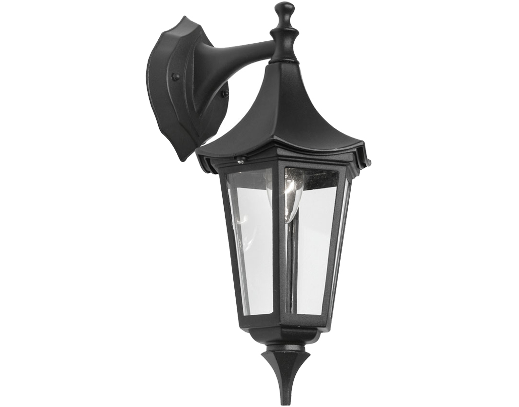 Oaks Lighting Witton Exterior Wall Lantern, Black - 811 DN BK