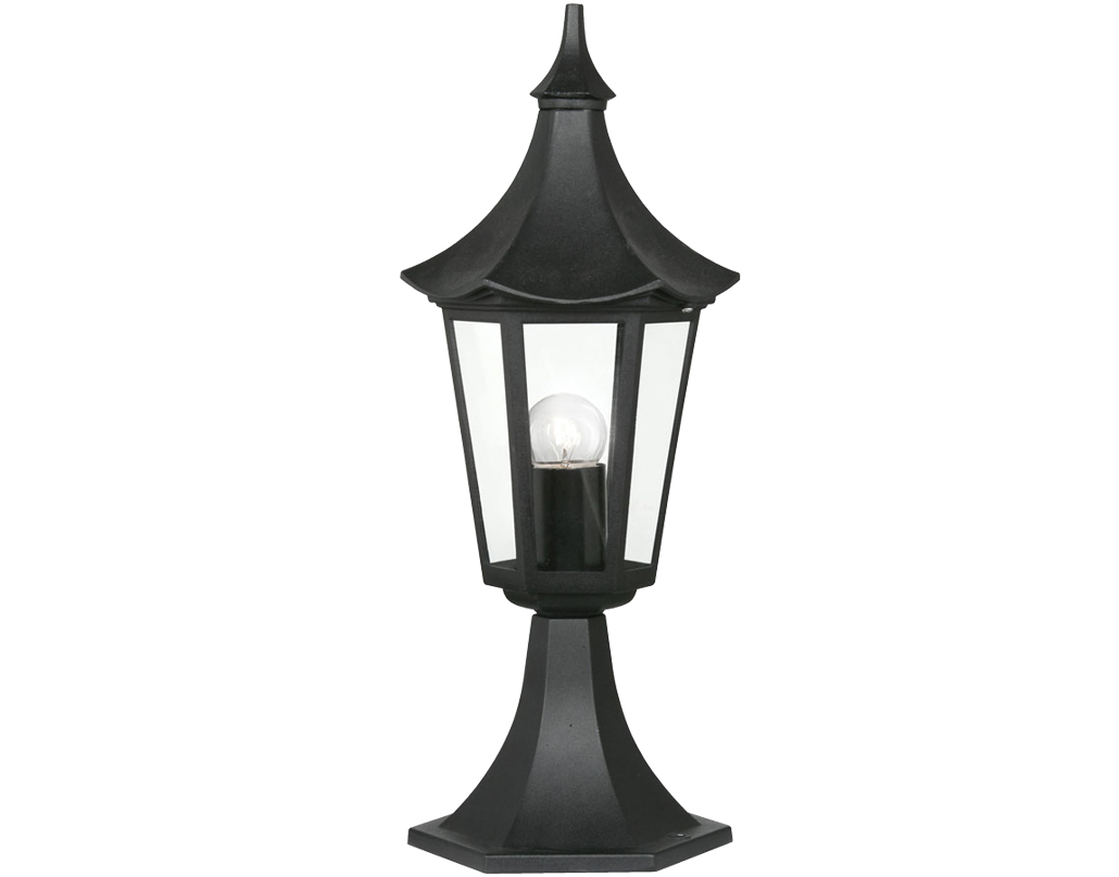 Black Outdoor Pedestal Lights From Easy Lighting