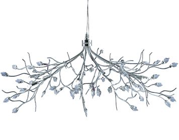 Searchlight Willow 10 Light Ceiling Light, Polished Chrome Finish - 8110-10CC