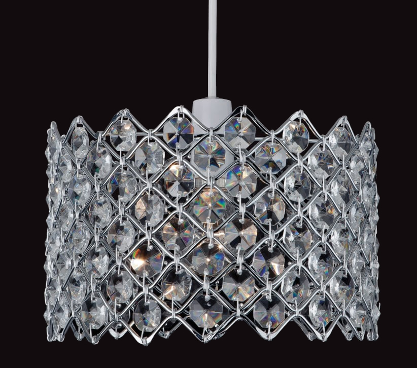 Firstlight Non-Electric Pendant, Chrome With Crystal - 8112CH from Easy Lighting
