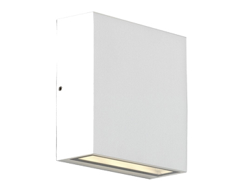 Astro Elis Twin LED Outdoor Up & Down Wall Light, Textured White Finish - 8117